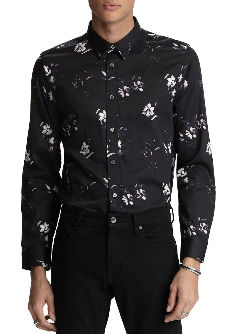 John Varvatos Star USA Stevie Floral-Print Regular Fit Shirt