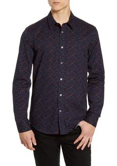 John Varvatos Star USA Stevie Slim Fit Floral Button-Up Sport Shirt