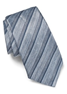 John Varvatos Star USA Stripe Linen Blend Tie
