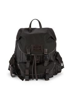 John Varvatos Striped Backpack