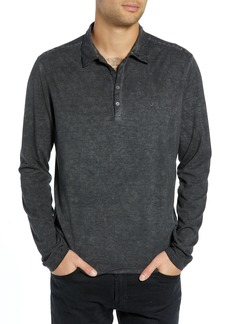 John Varvatos Star USA Striped Long Sleeve Polo