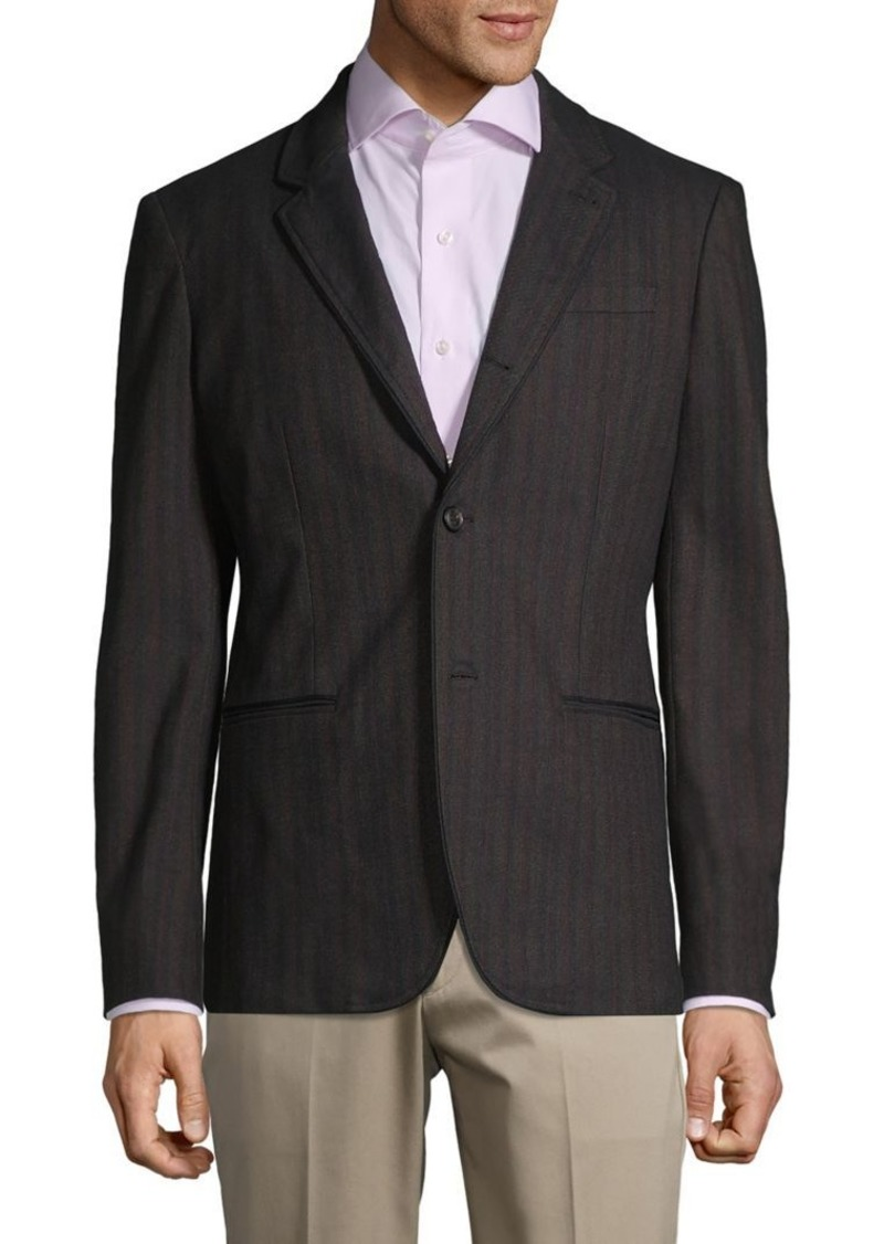 John Varvatos Star U.S.A. Striped Stretch-Cotton Sportcoat