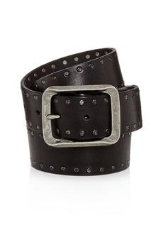 John Varvatos Star USA Studded Leather Belt