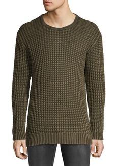 John Varvatos Star U.S.A. Textured Cotton & Linen Sweater