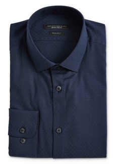 John Varvatos Star USA Textured Dot Regular Fit Dress Shirt