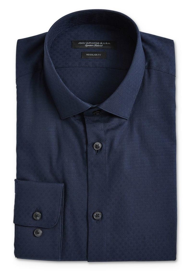 John Varvatos Star USA Textured Dot Regular Fit Dress Shirt