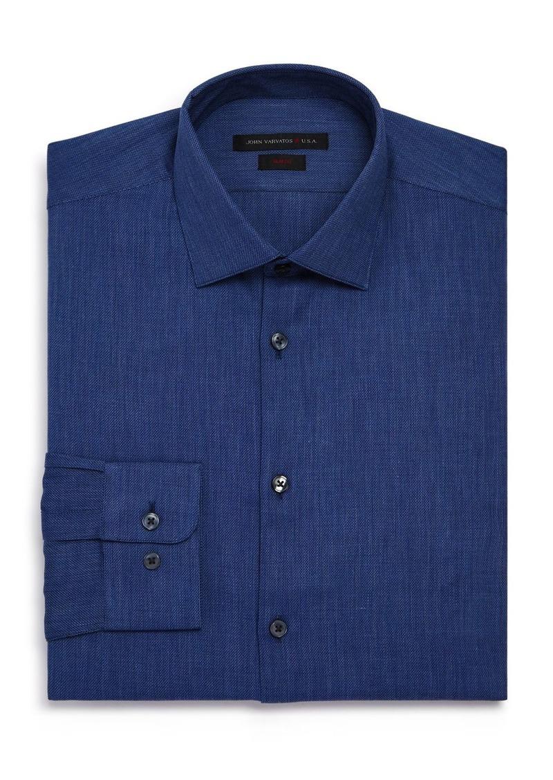 John Varvatos Star USA Textured Solid Regular Fit Dress Shirt