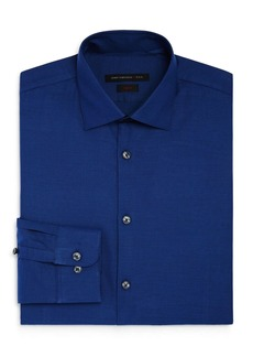 John Varvatos Star USA Textured Solid Slim Fit Stretch Dress Shirt