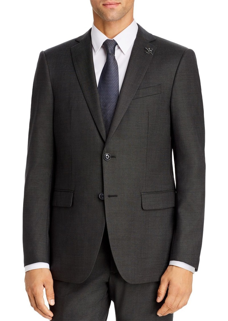 John Varvatos Star USA Textured Solid Slim Fit Suit Jacket
