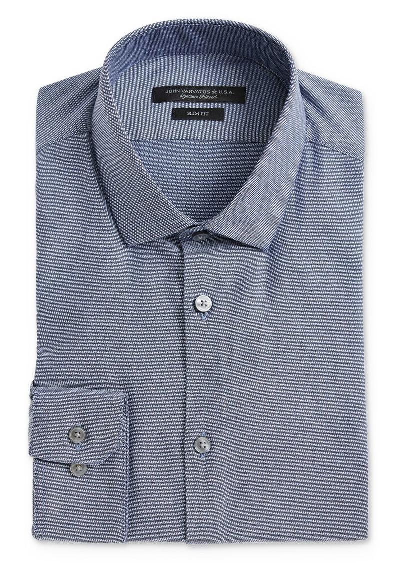 John Varvatos Star USA Textured-Weave Slim Fit Dress Shirt