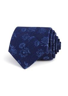 John Varvatos Star USA Tonal Floral Paisley Silk Classic Tie