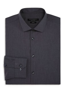 John Varvatos Star USA Tonal-Grid Slim Fit Dress Shirt