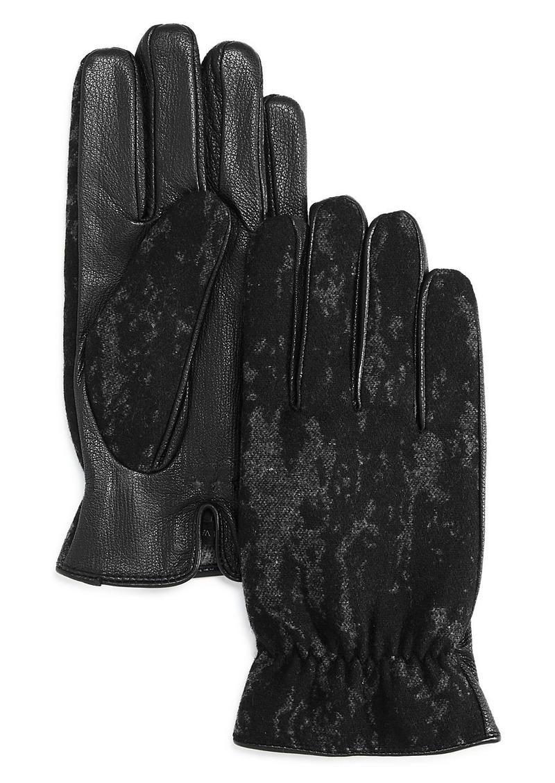 John Varvatos Star USA Touch Tech Pebbled Gloves