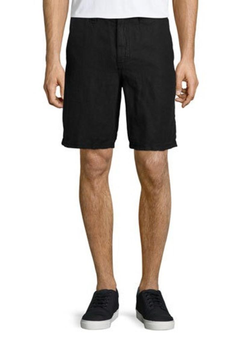 John Varvatos Star USA Triple-Needle Linen Shorts