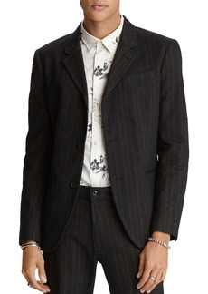 John Varvatos Star USA Tucker Regular Fit Tonal-Stripe Jacket