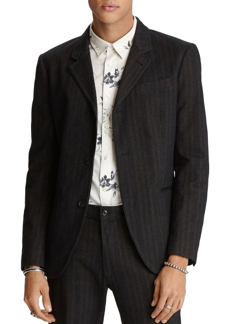 John Varvatos Star USA Tucker Regular Fit Tonal-Stripe Jacket