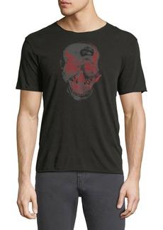 John Varvatos Two-Tone Skull Graphic T-Shirt