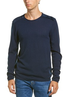 John Varvatos Star U.S.A. Velvet Wool-Blend Crewneck Sweater