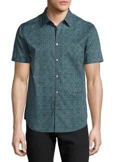 John Varvatos Star USA Wallpaper-Print Short-Sleeve Shirt