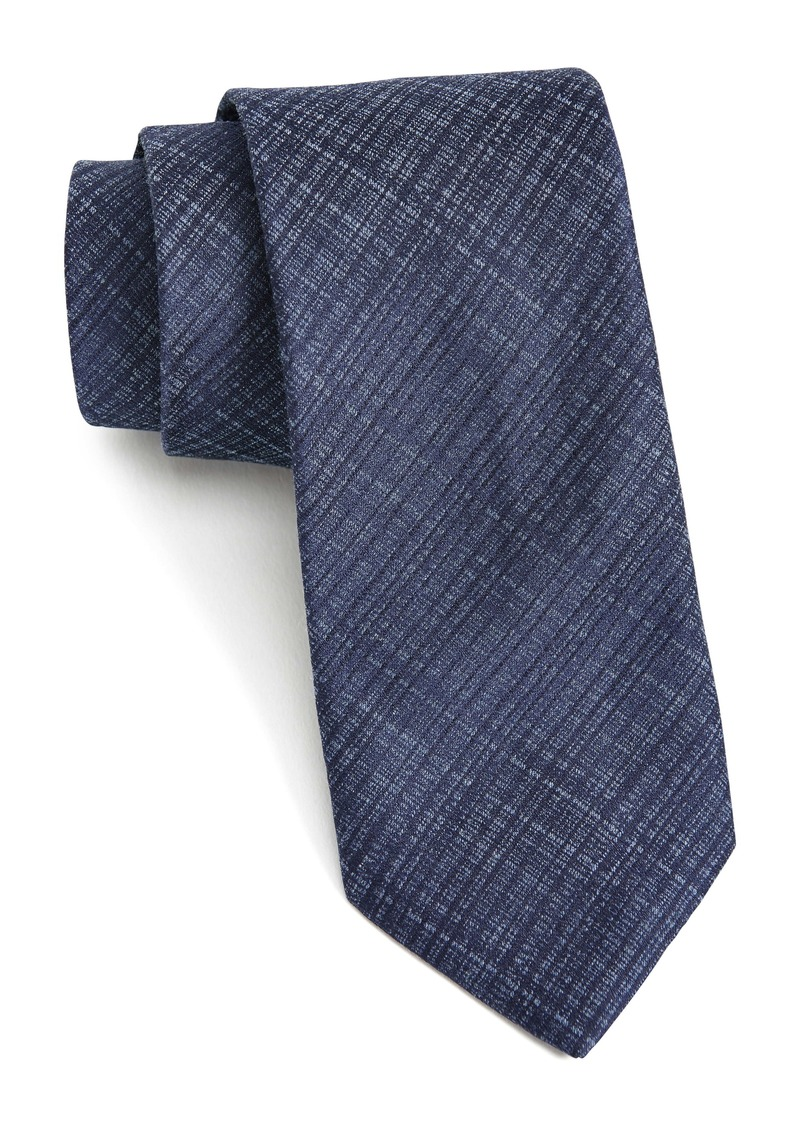 John Varvatos Star USA Weave Print Silk Blend Tie