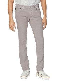 John Varvatos Star USA Wight Skinny Fit Corduroy Pants in Pebble Brown