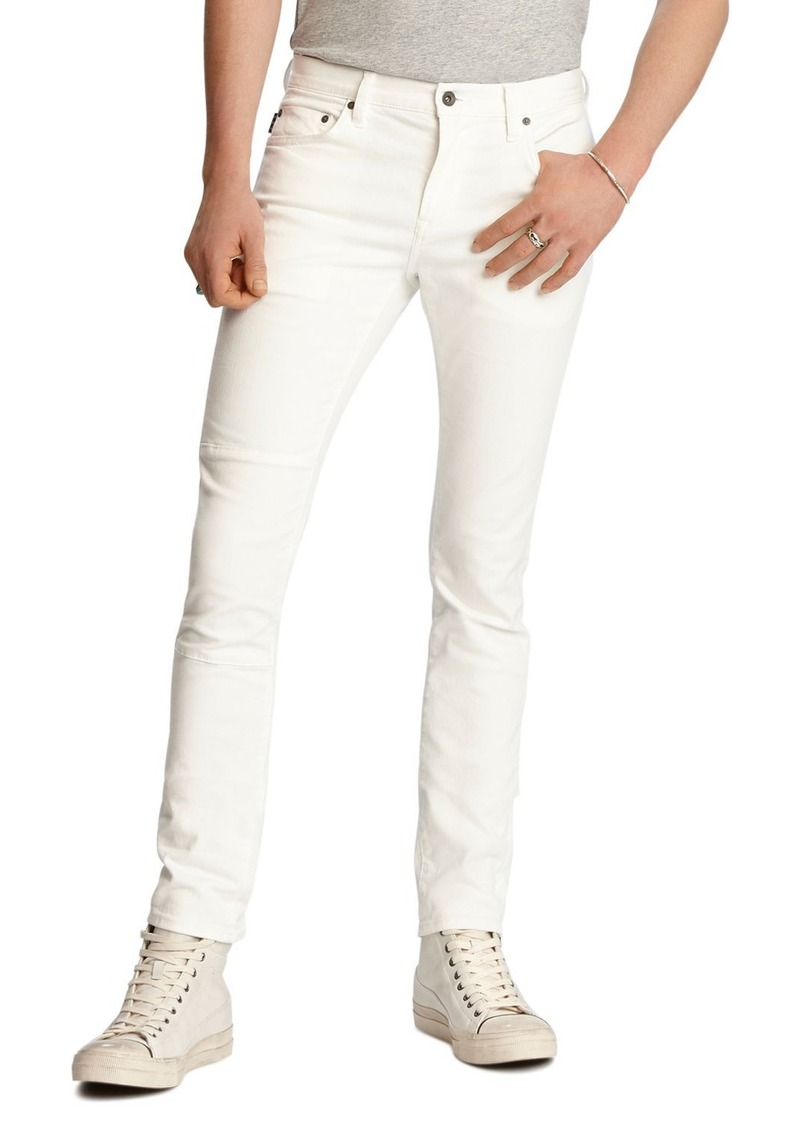 John Varvatos Star USA Wight Skinny Fit Jeans in White