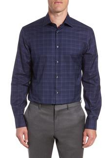 John Varvatos Star USA Windowpane Plaid Regular Fit Dress Shirt