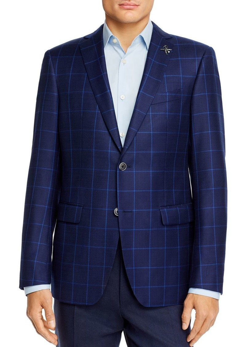 John Varvatos Star USA Windowpane Plaid Slim Fit Sport Coat