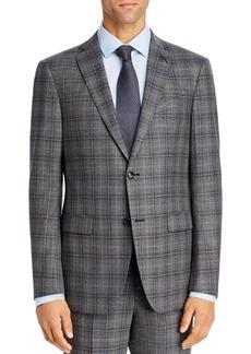 John Varvatos Star USA Windowpane Plaid Slim Fit Suit Jacket