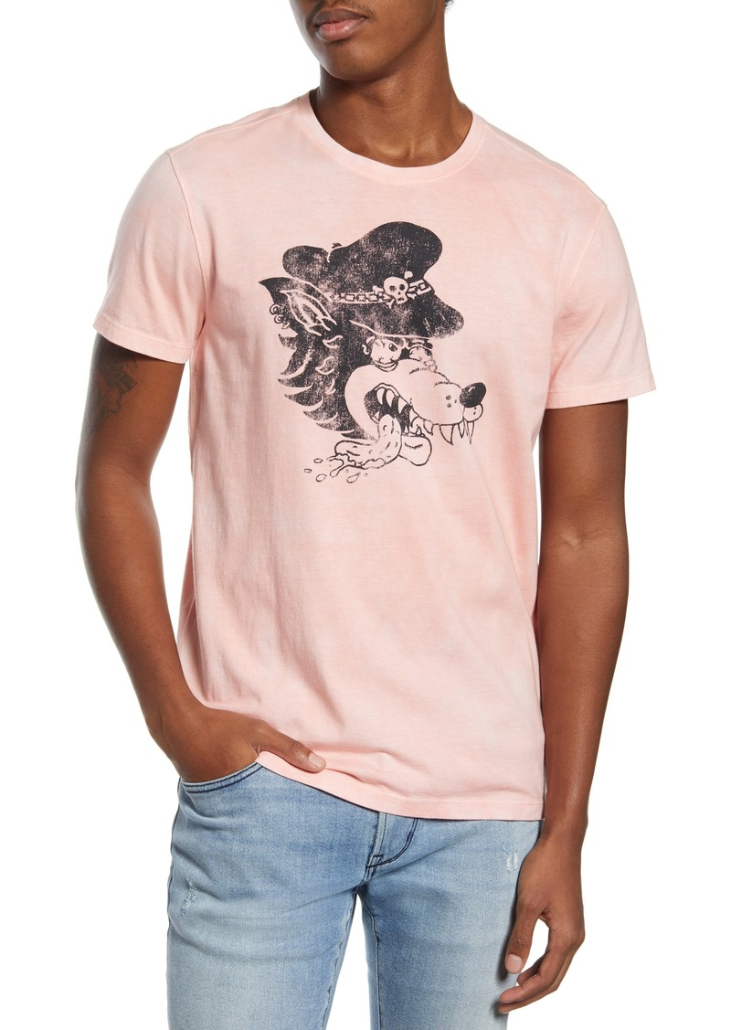 John Varvatos Star USA Wolfhead Graphic Tee