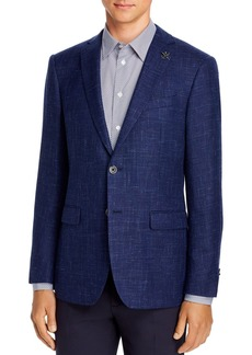 John Varvatos Star USA Wool & Linen Basketweave Slim Fit Sport Coat