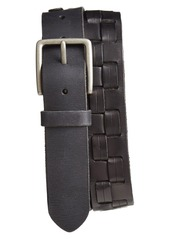 John Varvatos Star USA Woven Leather Belt