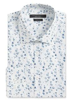 John Varvatos Star USA Wrinkle-Resistant Tossed Flowers Regular Fit Dress Shirt