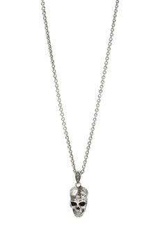 "John Varvatos Sterling Silver Artisan Metals Skull Pendant Necklace, 24"""