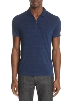John Varvatos Collection Stripe Zip Polo Shirt