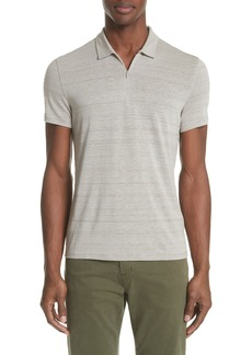 John Varvatos Stripe Zip Polo Shirt