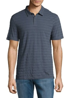 John Varvatos Striped Cotton Polo