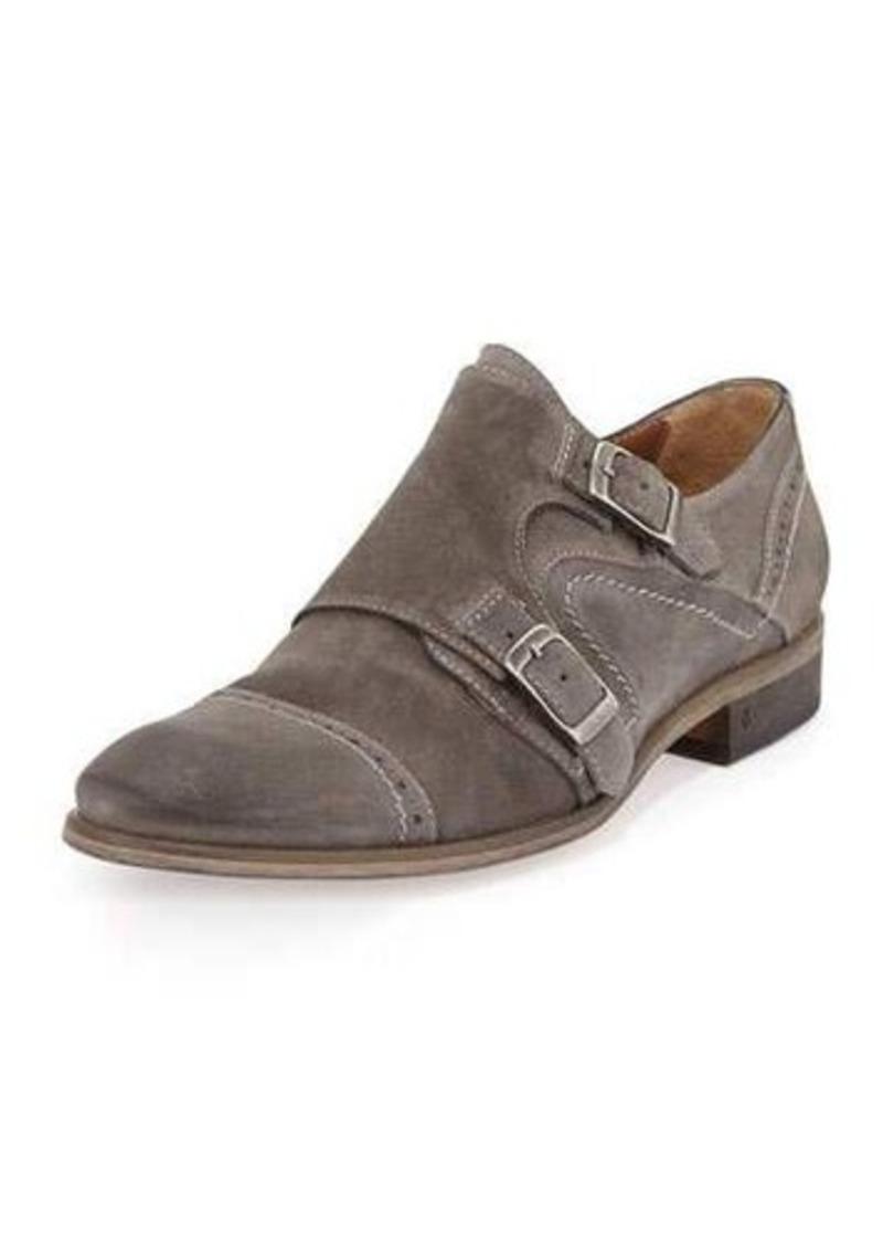 John Varvatos Suede Double-Monk Shoe