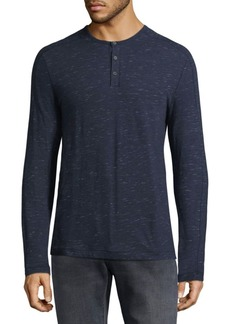 John Varvatos Textured Cotton Henley