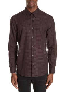 John Varvatos Collection Windowpane Check Sport Shirt