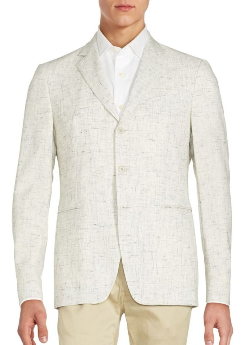 John Varvatos Wool-Blend Front-Button Blazer