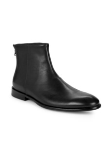 John Varvatos Zip Leather Ankle Boots