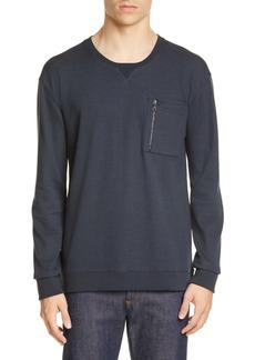 John Varvatos Zip Pocket Crewneck Sweatshirt