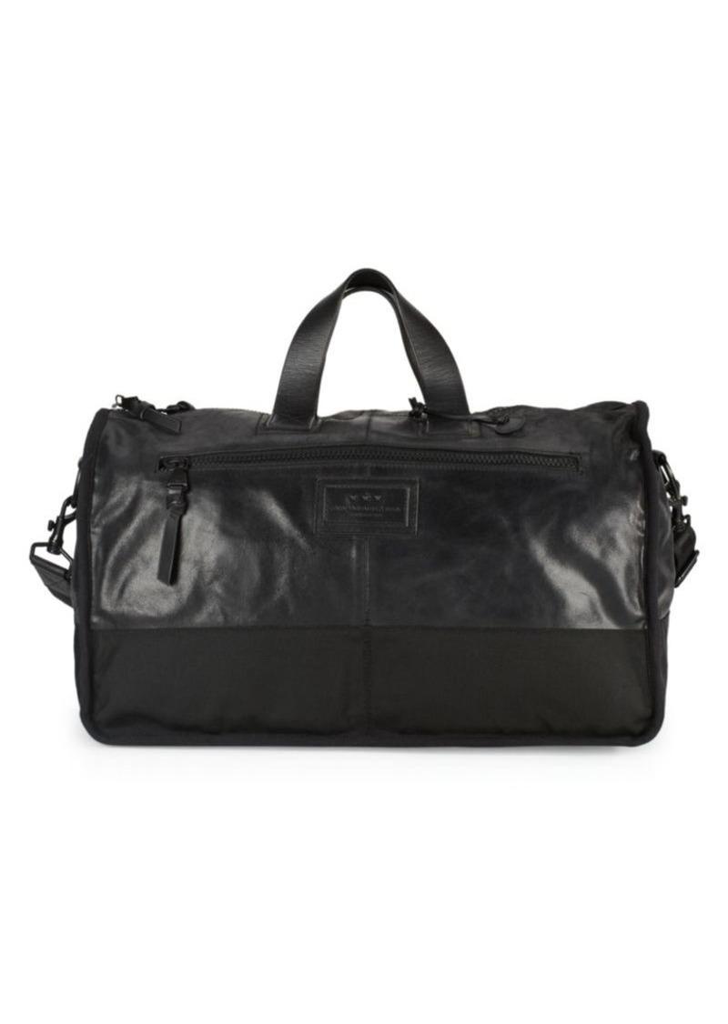 John Varvatos Zipped Leather Duffel Bag