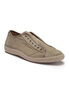 John Varvatos Laceless Low Top Denim Sneaker