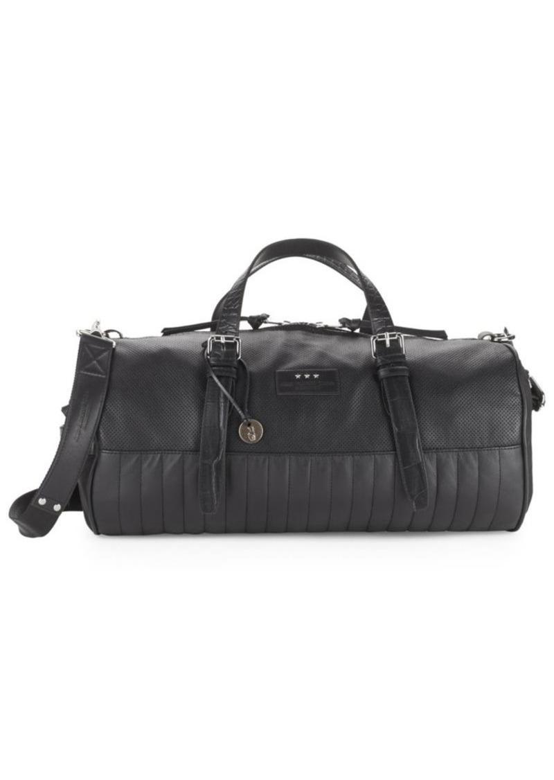 John Varvatos Leather-Blend Duffel Bag