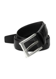 John Varvatos Leather Dress Belt