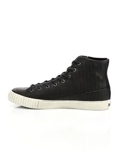 John Varvatos Leather High-Top Sneakers