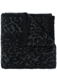 John Varvatos leopard intarsia scarf