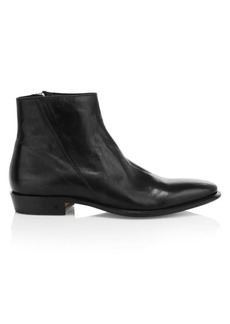John Varvatos Lewis Slant Zip Leather Boots